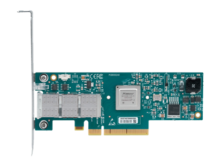 Mellanox® MCX353A-FCBT ConnectX®-3 VPI Adapter Card, Single-Port QSFP, FDR IB (56Gb/s) and 40GigE