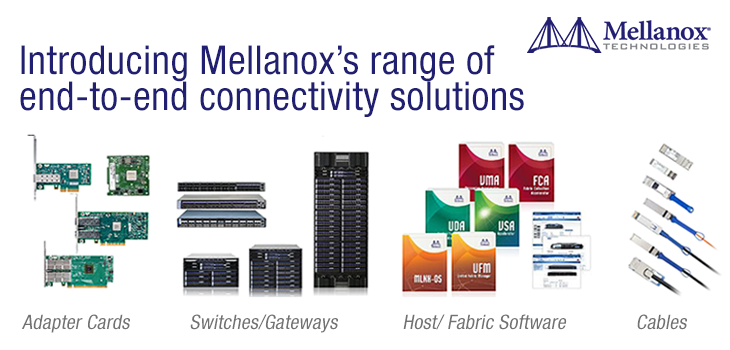 Mellanox's range of end-to-end connectivity