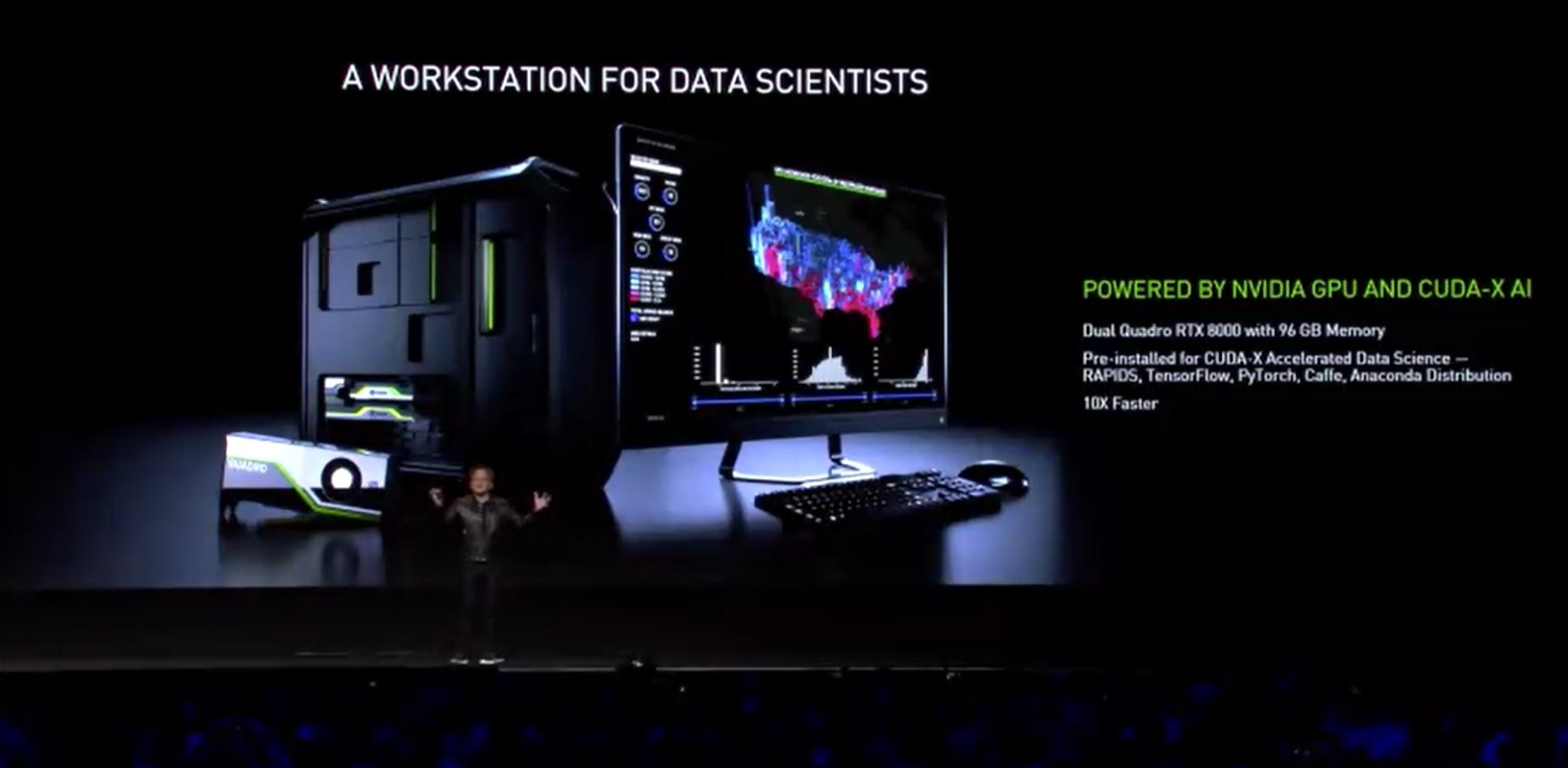 Live From Gtc A New Data Science Workstation Powered By Nvidia Quadro Rtx