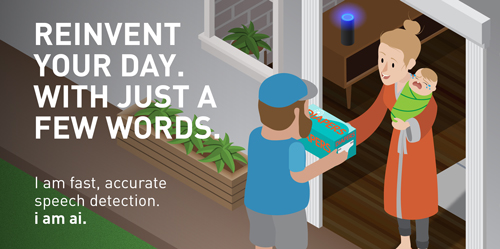 Reinvent your day. With just a few words.