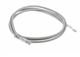 2m Cable U/UTP, PVC Cat5e Ethernet Cable Assembly Grey