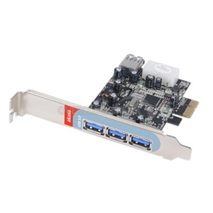 AKASA USB 3.0 PCIe card with 4 SuperSpeed USB 3.0 ports