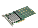 Supermicro PCI-E 3.0 carrier card for up to four NVMe M.2 SSDs