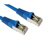 3m CAT6A Patch Cable Blue 10GBase-T