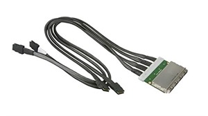 Supermicro 70x2/50x2 cm 4 port external to internal IPASS for 847 JBOD. 30AWG (no bracket)