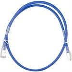 RJ45 CAT6A 550MHz Rated Blue 3 FT patch cable, 24AW