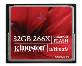 Kingston Ultimate 32GB 266x Compact Flash Card