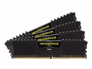 32GB (4x8GB) Corsair DDR4 Vengeance LPX Black, PC4-27700 (3466), Non-ECC Unbuffered