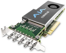 AJA Corvid 88-T Standard Profile 8-Lane PCIe 2.0 Card, 8-In/8-Out