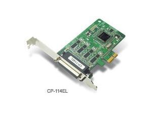 4-port RS-232/422/485 low profile PCI Express x1 serial board with optical isolation (includes DB9 m