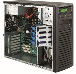 "Mid-Tower, 4 x 3.5"" drive bays, single 1200W Platinum PSU"