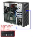 Supermicro SuperChassis 732D4F-500B (Black)