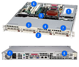 Supermicro SuperChassis 813MT-300CB (Black)