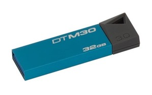 Kingston 32GB USB 3.0 DataTraveler Mini Cyan Pendrive