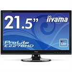 "22"" Iiyama Prolite E2278HD-GB1 Black LED Monitor Full HD DVI/D-Sub 1920x1080 250cd/m2 1000:1 5ms"