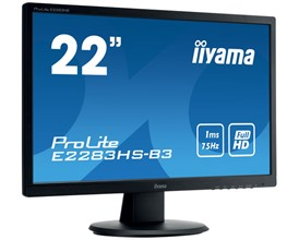 "iiyama ProLite E2283HS-B3 22"" Full HD 75Hz Home/Office Monitor"