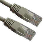 2m CAT 6 RJ45 UTP PVC INJ Moulded Patch Cable – Grey