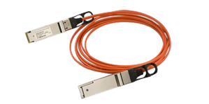 Finisar Quadwire 40Gb cable 4x10Gbps, QSFP male connectors, multimode, 0°C to 70°C, full duplex,