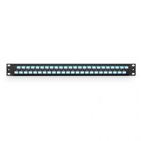 "FHU - 1U 19"" Fibre Patch Panel - 48 LC Duplex OM3/OM4 Multimode Adapters"