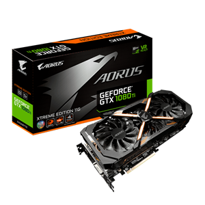 Gigabyte AORUS GeForce GTX 1080 Ti XTREME Ed. 11GB GDDR5X VR Ready Graphics Card, 3584 Core, 1607MHz