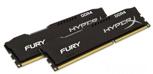 HyperX Fury Black 16GB (8GB x2 Kit) DDR4-2133MHz Cl 14 DIMM Memory