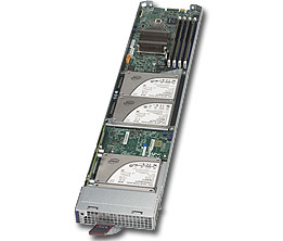 Supermicro MBI-6118G-T41X, MicroBlade, Intel Haswell 1x D-1541 with 4x 2.5 HDD