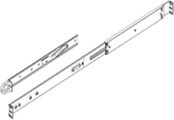 "Supermicro 25.6"" to 33.05"" Chassis Rail Set for SC512F"