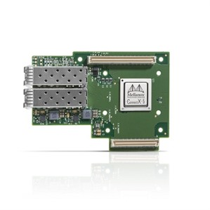 ConnectX®-5 Ex EN network interface card for OCP, 40GbE dual-port QSFP28, PCIe3.0 x16, no bracket