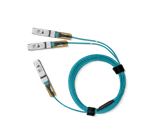 Mellanox® active fiber hybrid solution, ETH 100GbE to 2x50GbE, QSFP28 to 2xQSFP28, 10m