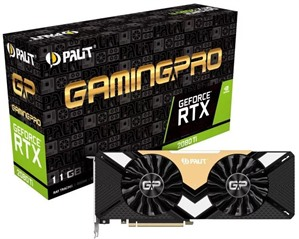 Palit NVIDIA GeForce RTX 2080 Ti 11GB DUAL Turing Graphics Card