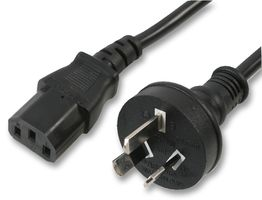 Australian Plug to IEC C13 Socket Power Cable, 2m, Black