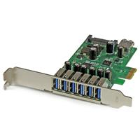 7 Port PCIe Superspeed USB 3.0 Adapter, 6x External 1x Internal