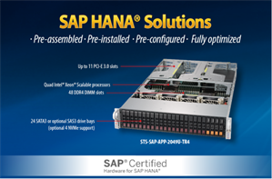 Supermicro SuperServer 2049U-TR4 for SAP HANA