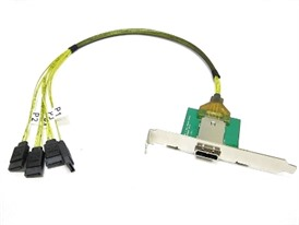 1M Mini SAS Female SFF-8088 to (4) SATA
