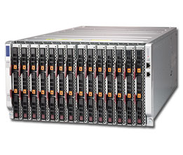 Supermicro Enclosure chassis with eight 2200W Titanium (96% efficiency) power supplies