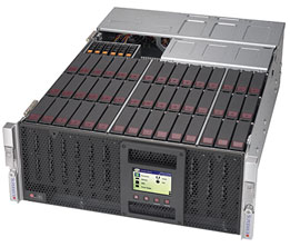 Supermicro SuperStorage Server 6048R-E1CR45H (Black)