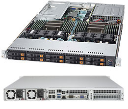 Figure 11: Supermicro's 1028U-TN10RT+ with 10 x NVMe bays in a 1U chassis