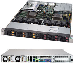 Supermicro Super server 1029U-TN12RV-NEBS-DC
