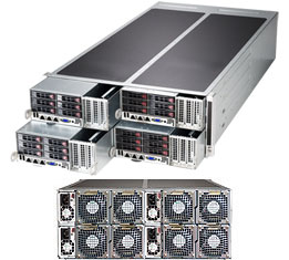 Supermicro 4U system , 4 Hot Plug Nodes , dual CPU , 6 X2.5 HS drives