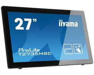 "27"" IIyama T2735MSC-B2 10 Point Projective Capacitive Touch Monitor, AMVA+, Webcam,1920x1080, 5ms, V"