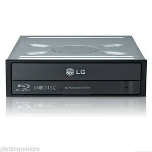 LG Internal BD-ROM DVDRW Multi Blue with 3D Playback & M-Disc, Black
