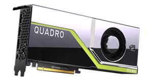 PNY NVIDIA Quadro RTX 8000, 48GB GDDR6, 4608 CUDA, 576 Tensor, 72RT Cores (OEM Brown Box)